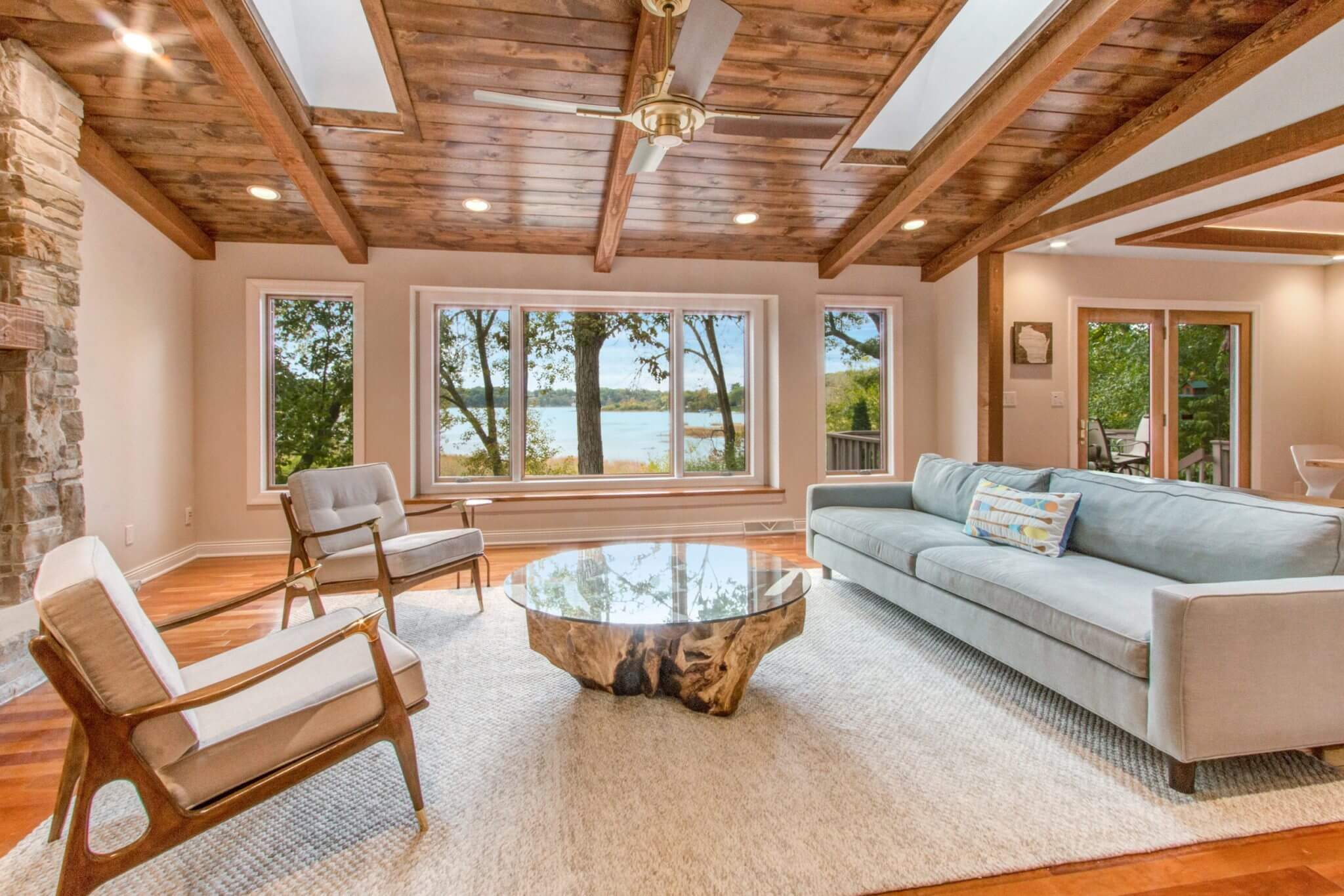 Contemporary-Rustic Home Remodel on Lake Beulah near East Troy, WI