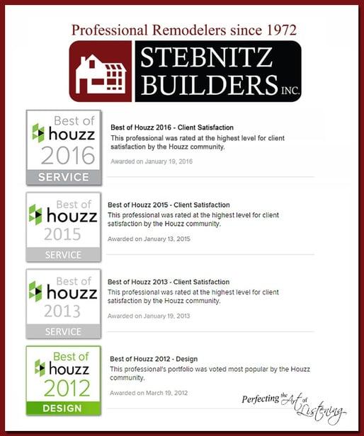 Stebnitz Builders Best of Houzz Awards