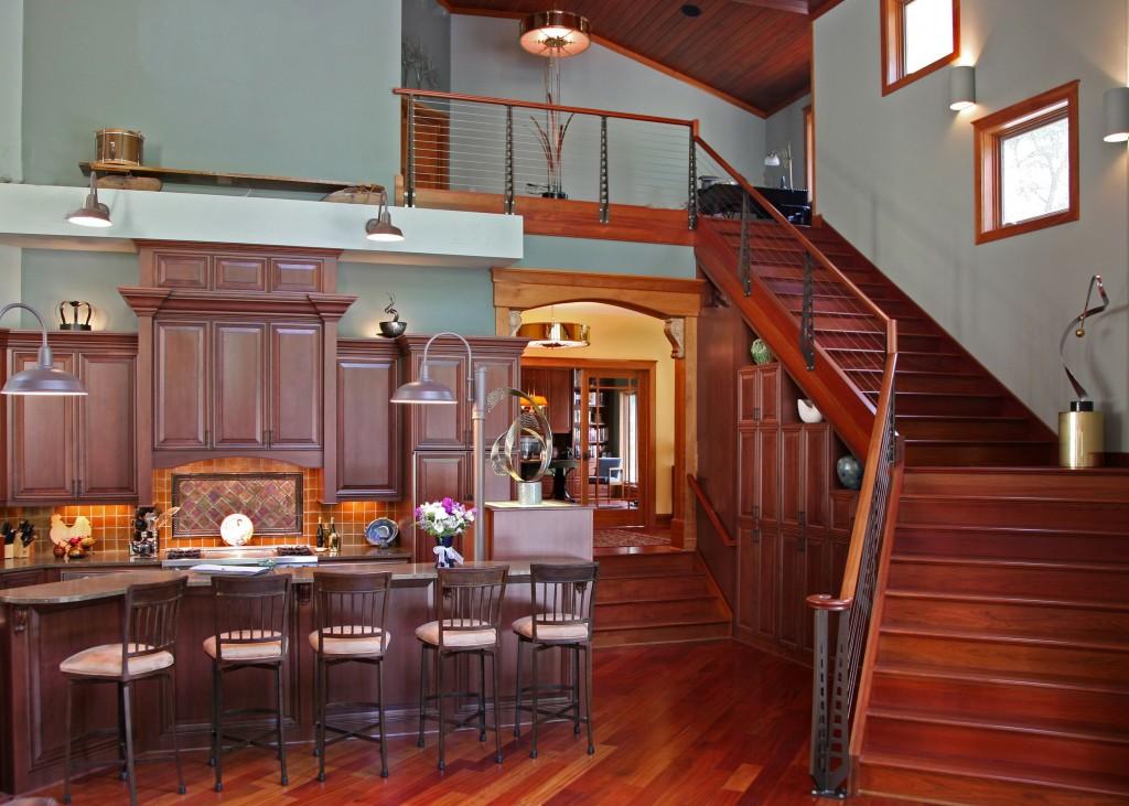 Delavan Lake Whole House Remodel, Delavan, WI Kitchen, stairway and loft
