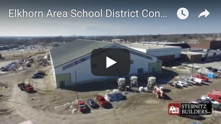 Elkhorn Area High School Construction Zone from a Bird's-Eye View